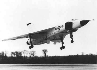 Avro Arrow in flight